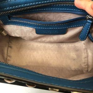 Michael Kors Bags - Michael Kors Selma studded blue/silver bag small